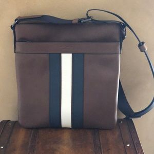 NWOT Coach blue, brown and cream cross body